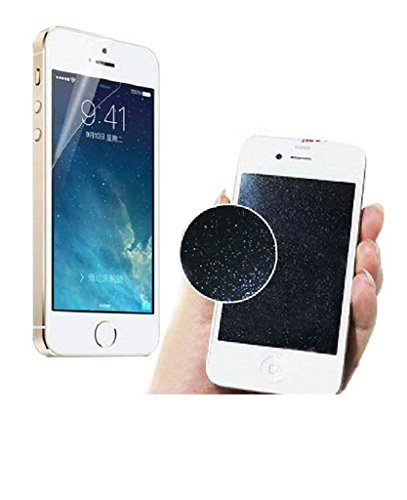 2 PCS per iPhone 6 6S 4.7 Fronte e retro argento con diamanti Sparkle Glitter Screen Protector Per iPhone 5 / 5c / 5s
