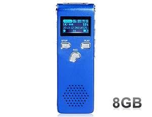 Sk-015 De 8 Go Digital Voice Recorder (Bleu)
