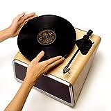 Platine Vinyle Prise en Charge stéréo Gramophone sans Fil à Trois Vitesses Vinyle LP Haut-Parleur Bluetooth WiFi CD Mp3 Vinyle Bois Salon,C