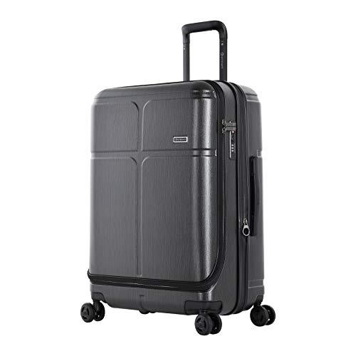 Eminent Koffer Load 68 cm 85 L Erweiterbar sichere Reißverschlüsse 4 leise Doppelrollen Graphit