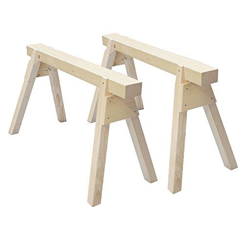 Arbeitsbock: 2 Stück Holzböcke aus Massivholz Länge 120 cm