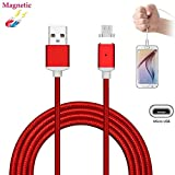 Superior Magnetic Micro USB Cable ZRL® Nylon-Kabel schnell Quick Charger Cable USB 2.0 A Stecker to Micro B Ladekabel für Samsung, Motorola, Nexus, HTC, Sony, Nokia, Android Devices und mehr