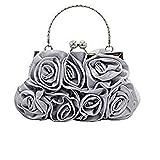 RMXMY Handgemachte nähende Art- und Weisehandtasche-Gewebetasche der Satinblume Stoffbeutel