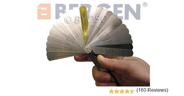 Spessimetro professionale metrico e imperiale a 32 foglie Bergen BER5811