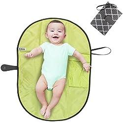 Pawaca portátil cambiador, impermeable Cambiador bebe portatil para cambiar de pañales o ropa al bebé, Kit Cambiador de Viaje, Bolso cambiador bebe de mano plegable de viaje