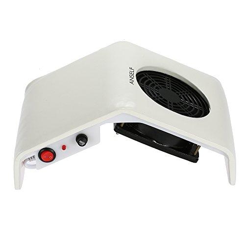 Anself 220V 30W Aspirateur à poussières d'ongles Nail Art Collecteur de poussière Outil de nettoyage manicure pédicure
