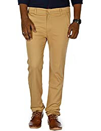 Jugend Navy Blue Stretchable Slim Fit Trousers For Men