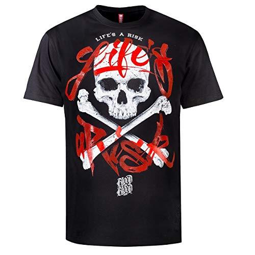 Blood Männer Sport Life's a Risk T-Shirt Oberteil 2XL