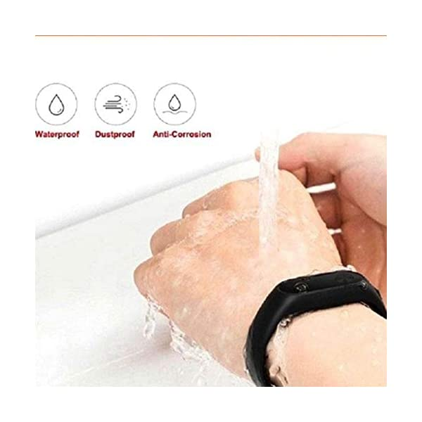 Profesional 0.42 Inch Touch Scrren Style Impermeable Fitness Activity Tracker Reloj Inteligente Pulsera (Negro… 2