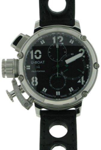 U-Boat U-51 Chrono 46 6495 - Reloj para hombres, correa de goma color negro