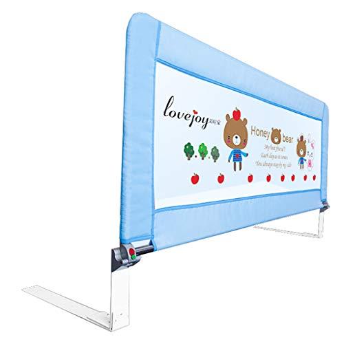 Bettgitter Bettschutzgitter 80 cm Länge Swing Down Bett Schienen für Kinder Baby Mädchen Jungen Kinder Klappsicherheit Bedrail (Farbe : Blau) (Bett-schiene Reise Für Baby)