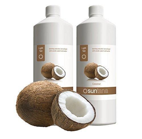 2000ml (2 x 1000ml) Suntana Noix de coco Lumière 8% DHA Spray Tan Solution