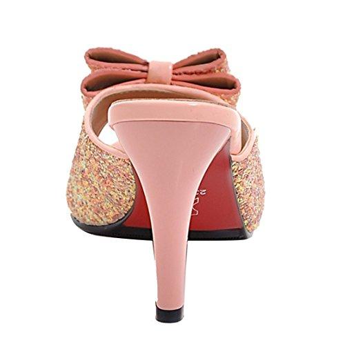 Aiyoumei Pantofole Muli Rosa Aiyoumei Donna Pantofole vY85qxPw