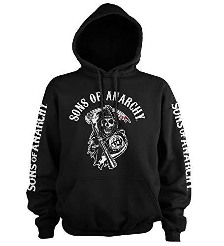 Sons Of Anarchy Logo Kapuzenpullover (Schwarz), Large Anarchy Hoodie