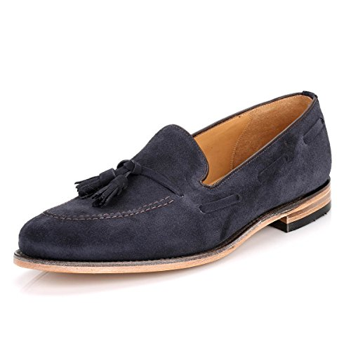 Loake Herren Polo Wildleder Lincoln Loafer Marine Marine
