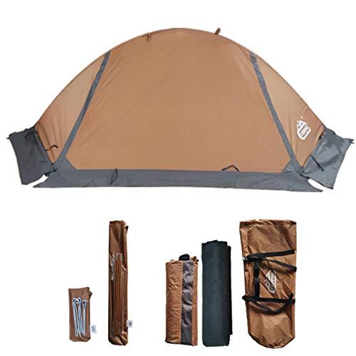 Camppal Professional 1 Person Extreme Platzsparendes Zelt für 4 Jahreszeiten, leichtes Rucksack-Zelt, wasserdicht, Wandern, Jagd, Camping Zelt (MT051), Khaki