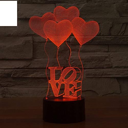 Nachtlicht Modern Fantastic Design 3D Deco Ich liebe dich Form Kreative Nachtlicht Coole Lampe Für Valentinstag Geschenke