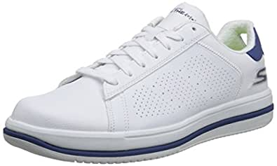 Skechers Men's On-The-Go - Element White and Navy Sneakers - 11 UK/India (46 EU) (12 US)