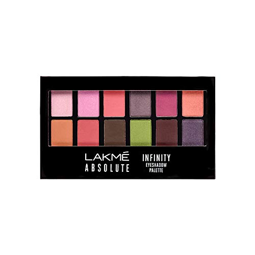 Lakme Absolute Infinity Eye Shadow Palette, Pink Paradise, 12 g