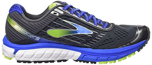 Brooks Ghost 9, Scarpe da Corsa Uomo Multicolore (Anthracite/Electric Brooks Blue/Lime Punch)