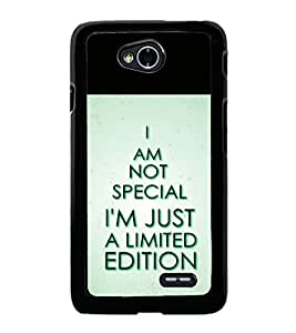 printtech Cool Quotes Back Case Cover for LG L70