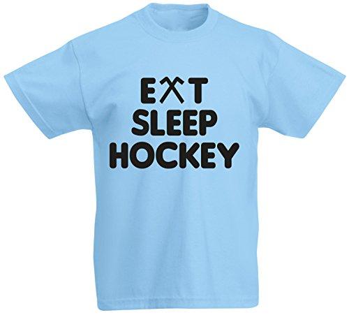 Eat Sleep Hockey Sports Play Game Hobby Funny Joke Gift Kids T shirt - Boys Girls Tee - Children Tshirt