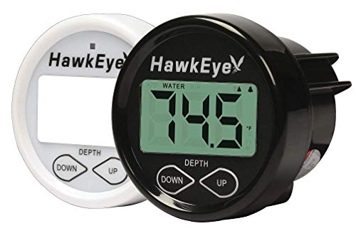 Hawkeye-INDASH Tiefe Sounder mit Luft und Wasser Temperatur schwarz -