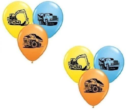 LoonBalloon TONKA Dump TRUCK Construction (6) Birthday Party Latex Decoration Balloons by LoonBalloon