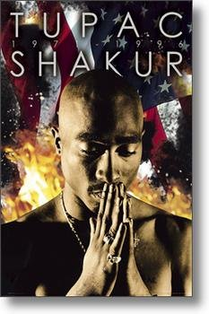 2 Pac Tupac Shakur 2 PAC USA American Flagge groß Musik Poster 61 x 91,5 cm (Amerikanische Flagge Wand Poster)