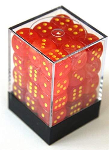 Orange/Yellow W6 12mm Würfel Set CHX27923 ()