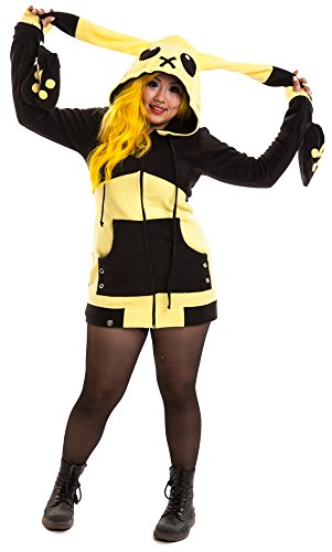 Cupcake Cult Kapuzenjacke LIGHTNING HOOD Yellow