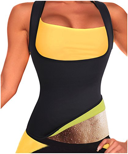 Gotoly Damen Neopren-Shapewear Abnehmen heißen Sauna Slimming Tank Top (Medium, Schwarz) (Tv Gesehen-bh Im Wie)