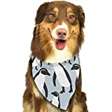 Rghkjlp Penguin Doodle Pet Dog Cat Bandanas Triangle Bibs Pet Scarf Dog Neckerchief Headkerchief Pet Accessories