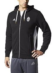 adidas Juventus 3S Hood Zp - Sudadera para hombre, color negro / blanco, talla L