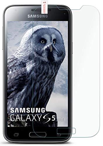moex 9H Panzerfolie für Samsung Galaxy S5 Mini | Panzerglas Bildschirm Glasfolie [Tempered Glass] Screen Protector Glas Bildschirmschutz-Folie für Samsung Galaxy S5 Mini Schutzfolie