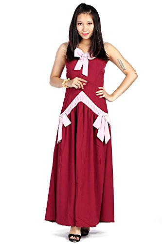 De-Cos Fairy Tail Cosplay Costume The Demon Mira Mirajane Strauss Red Dress V1