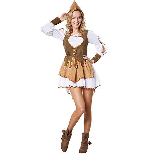dressforfun 900560 Damenkostüm Königin der Diebe, Kostüm im mittelalterlichen Stil (L| Nr. 302692) (Mittelalterliche Dieb Kostüm)