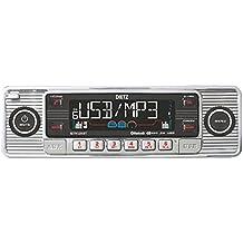 Dietz Retro _ 200_ 1DIN Bluetooth Retro Radio CD/MP3/USB/SD/RDS/BT Radio de coche, AUX con mando a distancia, color: cromo