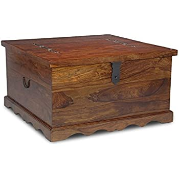 Incroyable Jali Indian Furniture Square Trunk Coffee Table   Living Room Furniture