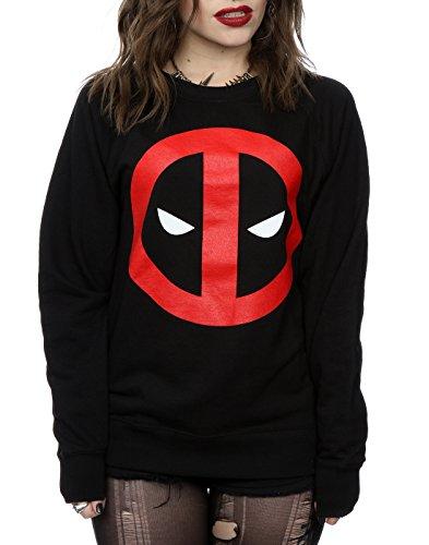 Marvel Femme Deadpool Clean Logo Sweat-Shirt Noir