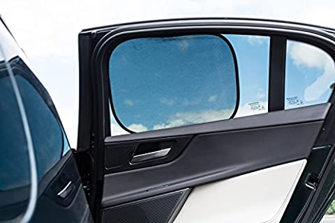 [2 Pack] Car Sun Shades | Premium Quality Baby Window