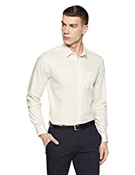 blackberrys Mens Solid Slim Fit Formal Shirt (BP-DOFE70 Beige_44)
