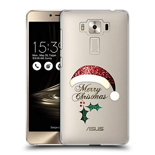 Head Case Designs Offizielle PLdesign Santa Hut Weihnachten Harte Rueckseiten Huelle kompatibel mit Zenfone 3 Deluxe 5.5 ZS550KL