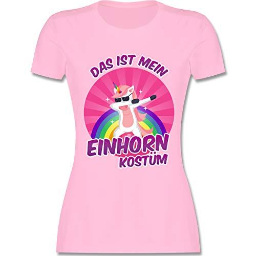 Karneval & Fasching - Das ist Mein Einhorn Kostüm - M - Rosa - L191 - Damen Tshirt und Frauen - Einhorn Kostüm Lustig