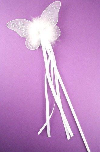 Schmetterling-Zauberstab, Feenprinzessin, Glitzer und Bänder, für elegante Kleider/Blumenmädchen auf Hochzeiten