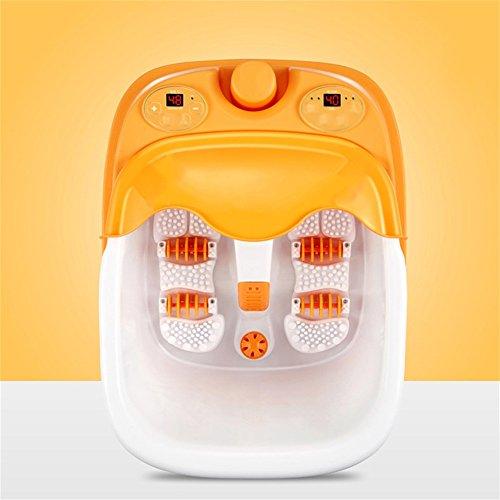 Fuß Badewanne Split Fußbad Elektrische Massage Fuß Waschen Konstante Temperatur Reflexzonenmassage Haushalt (Farbe : Gelb) - Split Bad Bar