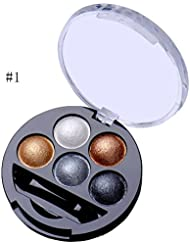 5 Colors Eyeshadow Palette Eye Shadow Powder Metallic Shimmer Baked Eye Shadow Makeup (#1)