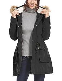 Vieliring - Abrigo de Invierno para Mujer, con Capucha, Talla Grande