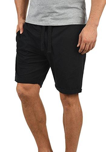 Blend Stilo Herren Sweatshorts Kurze Hose Jogginghose Mit Kordel Regular Fit, Größe:L, Farbe:Black (70155) - Retro-stil-kurze