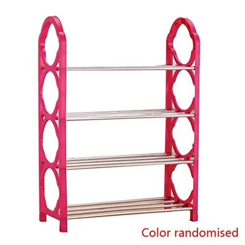 Schuh-speicher-organisator (Lindahaot 4 Tiers Schuhregal Schuh-Speicher-Organisator Regal Einfache Assembled Standing Schuhregal zufällige Farbe)